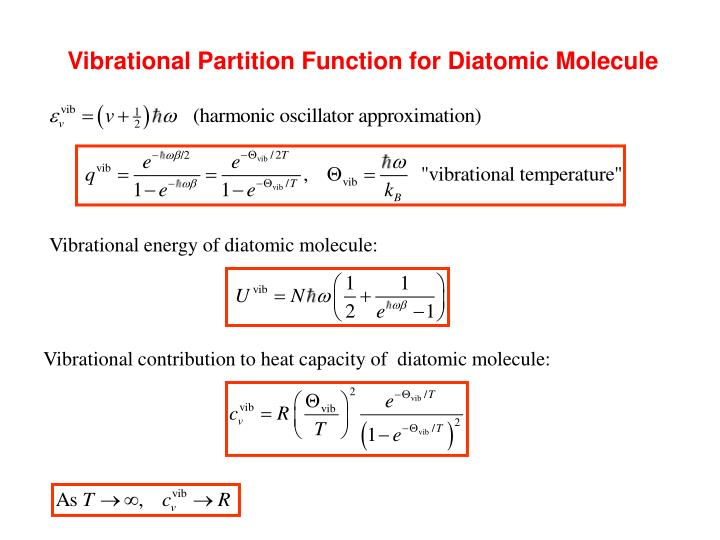 Vibrational Partition Function for Diatomic Molecule