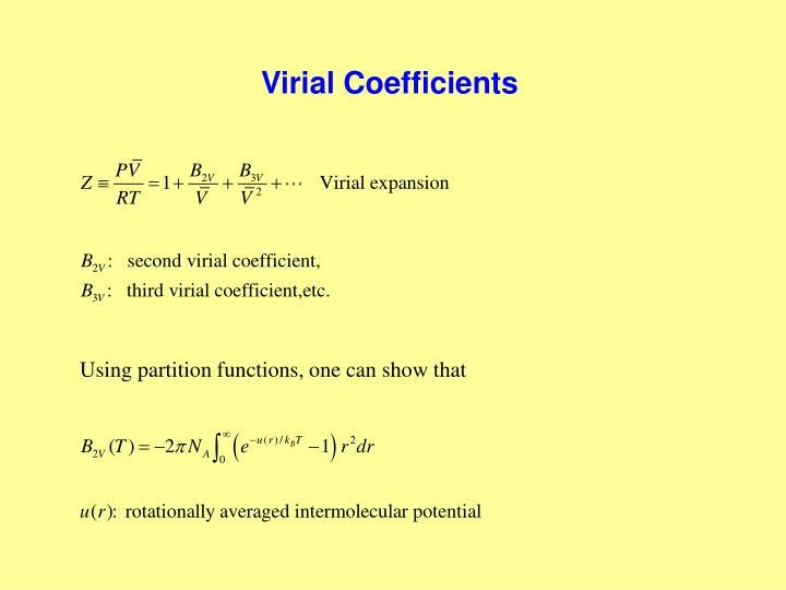 Virial Coefficients