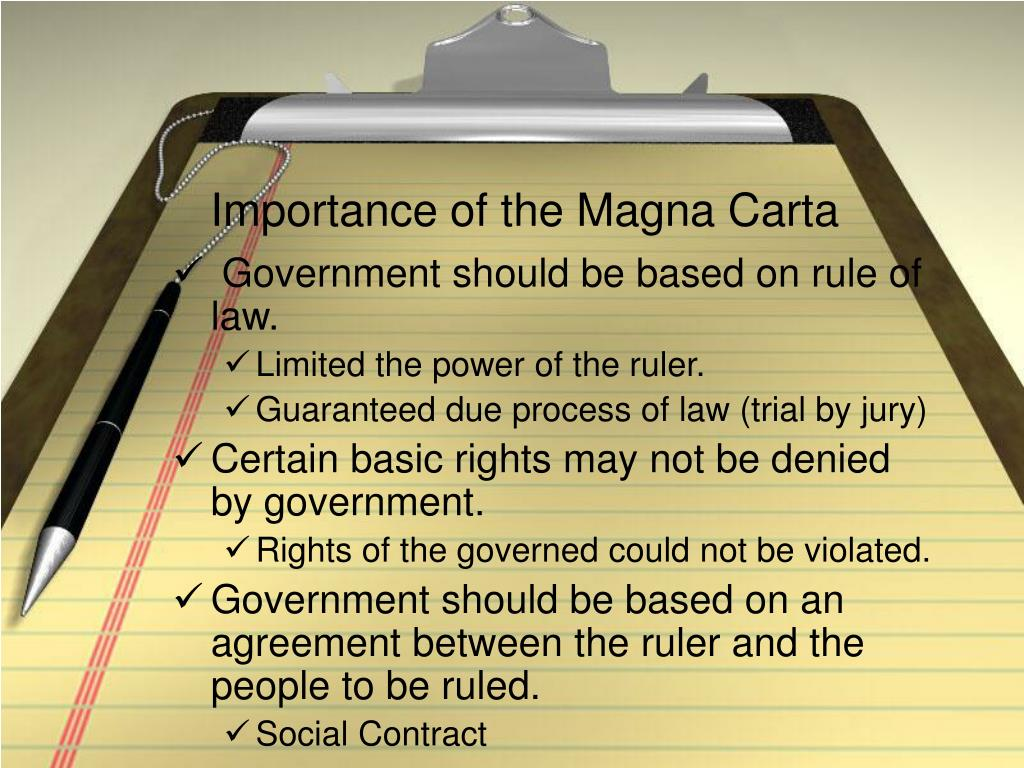Importance of the Magna Carta