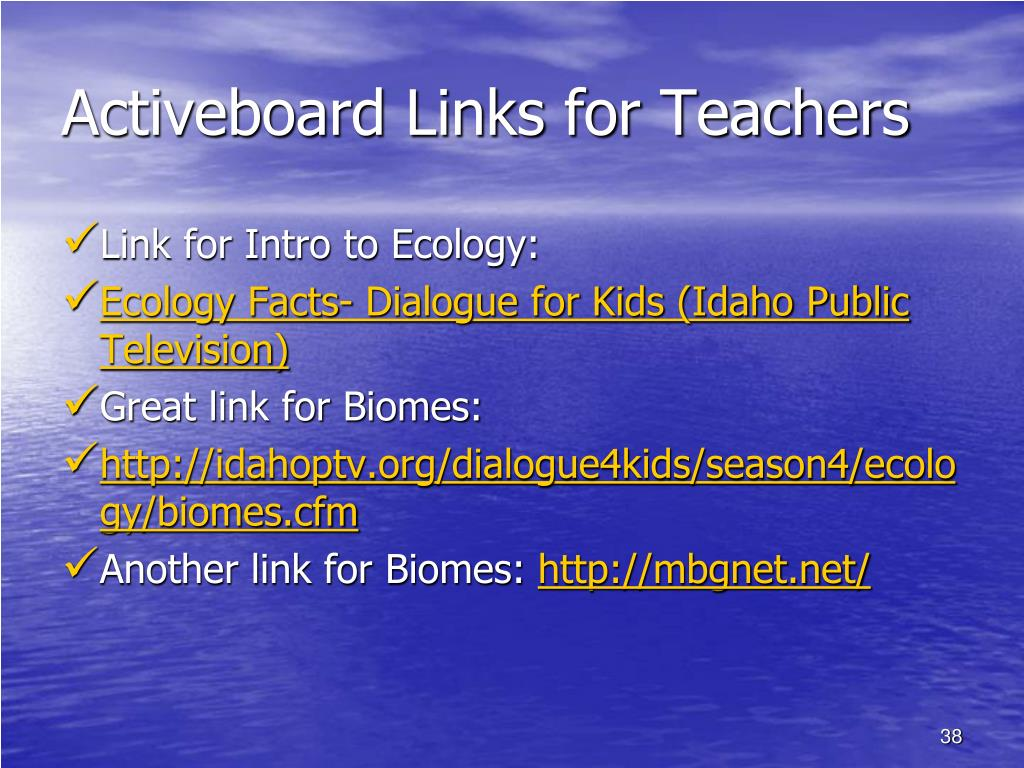 Activeboard Links for Teachers
