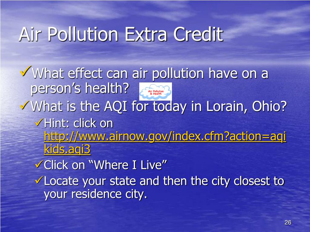 Air Pollution Extra Credit