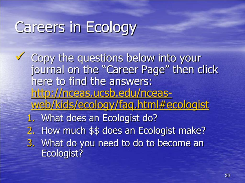 Careers in Ecology