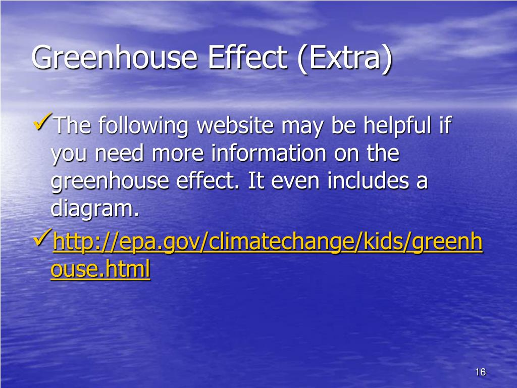 Greenhouse Effect (Extra)