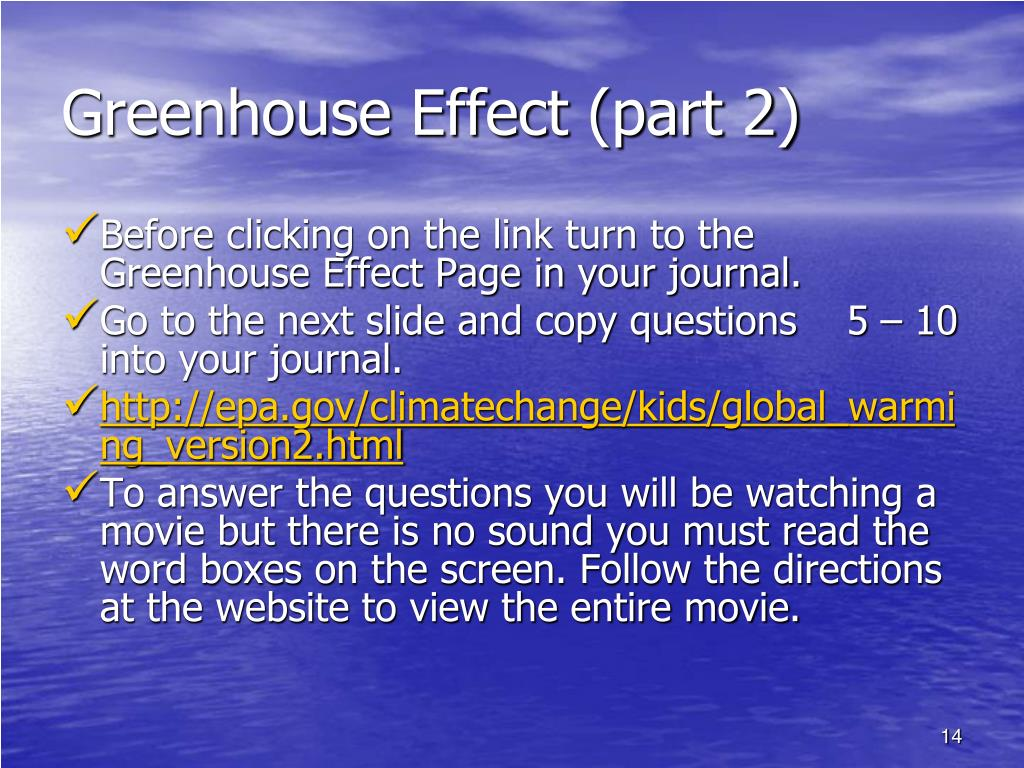 Greenhouse Effect (part 2)