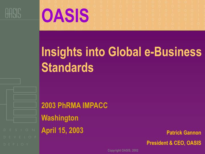 Insights into global e business standards l.jpg