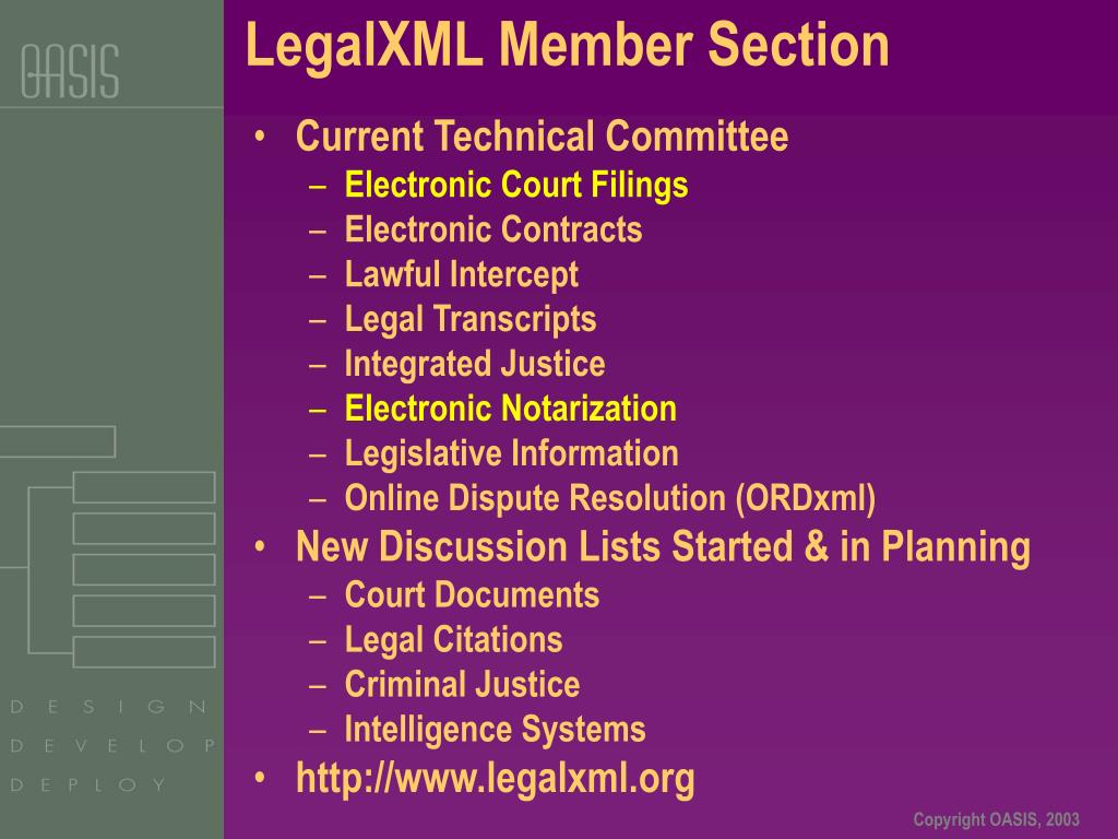 LegalXML Member Section