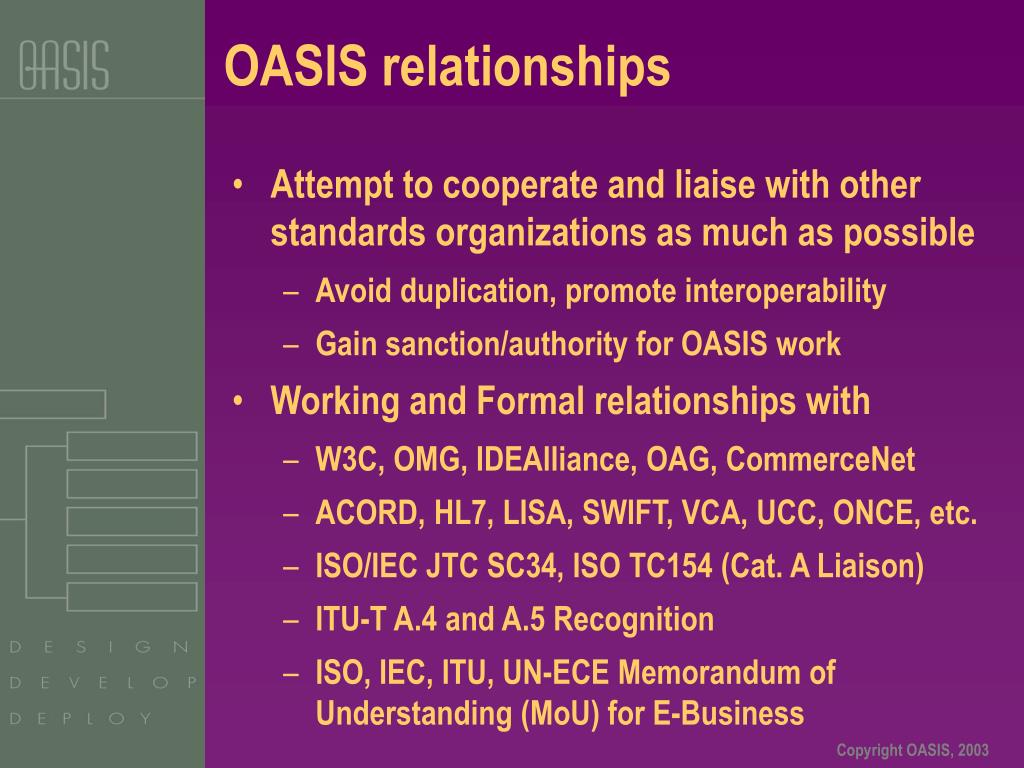 OASIS relationships