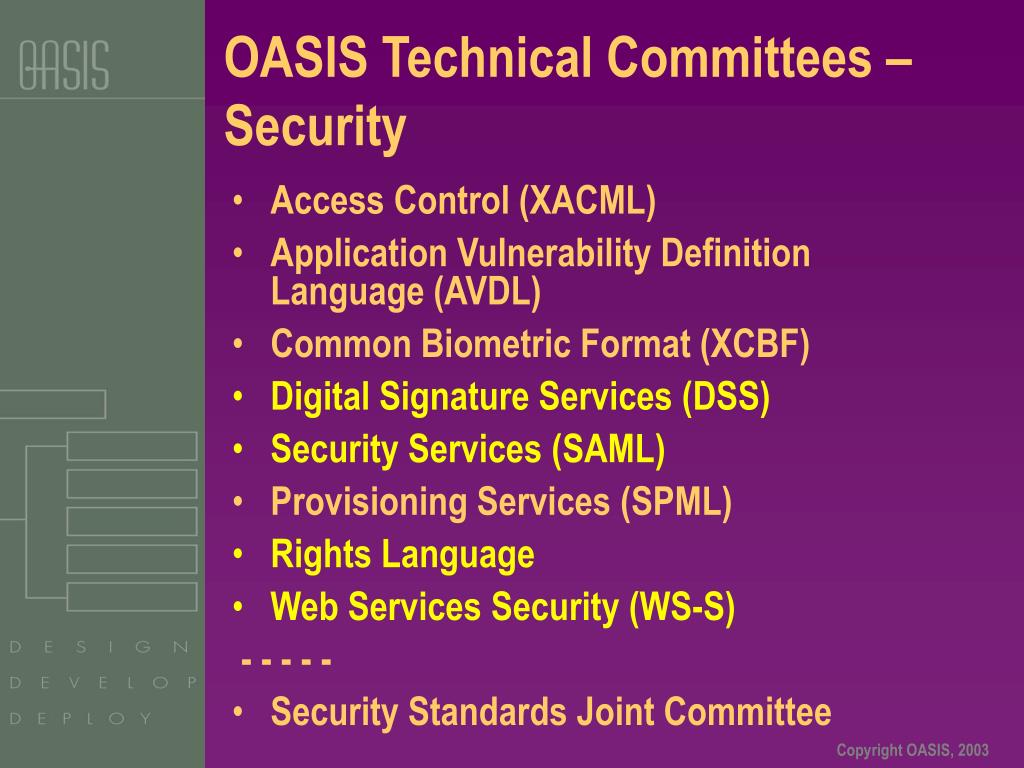 OASIS Technical Committees –