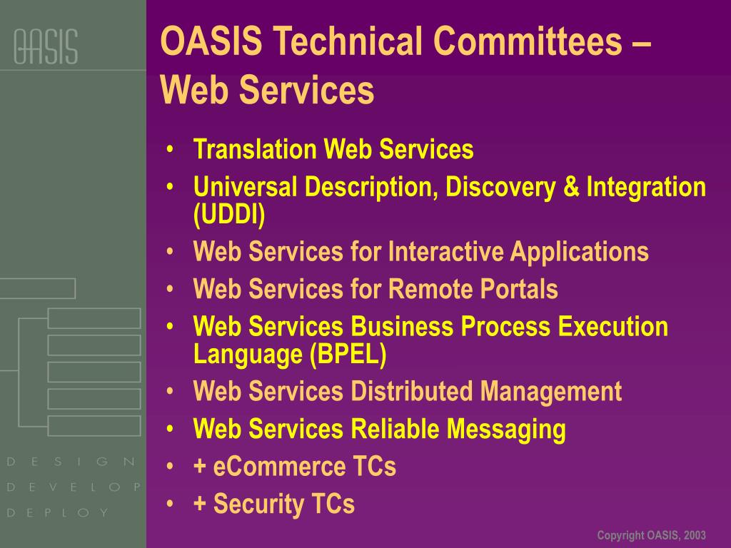 OASIS Technical Committees – Web Services