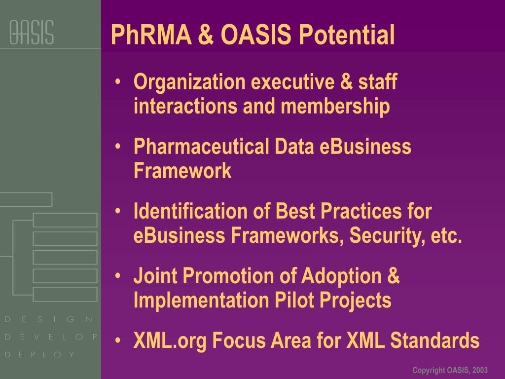 PhRMA & OASIS Potential