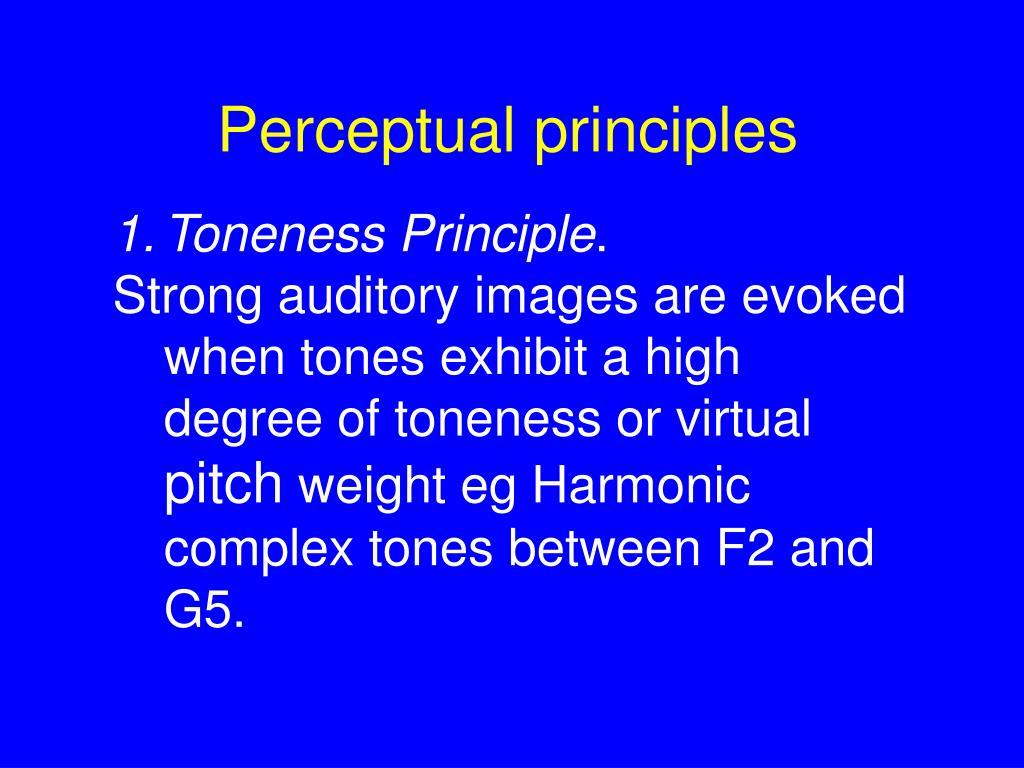 Perceptual principles