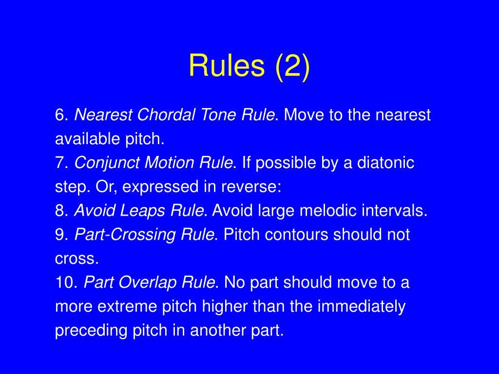 Rules (2)