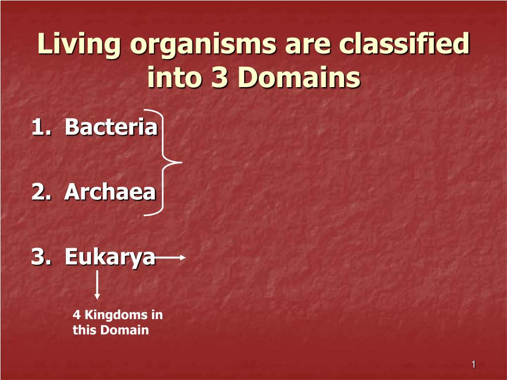 Living organisms are classified into 3 Domains