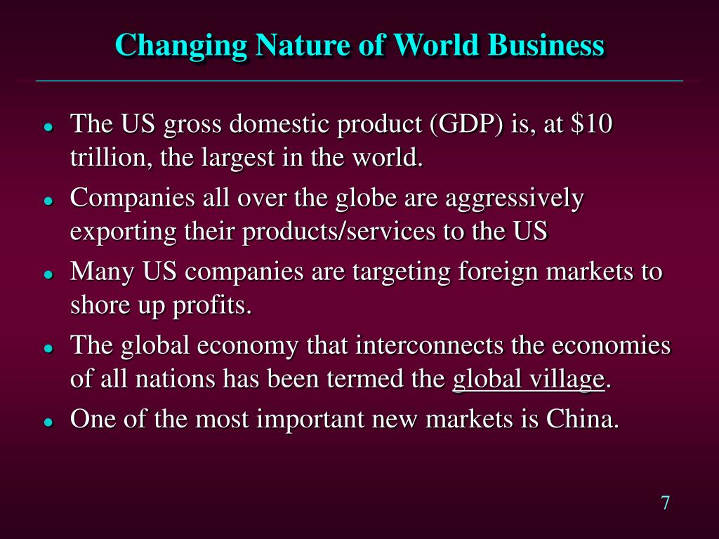 Changing Nature of World Business