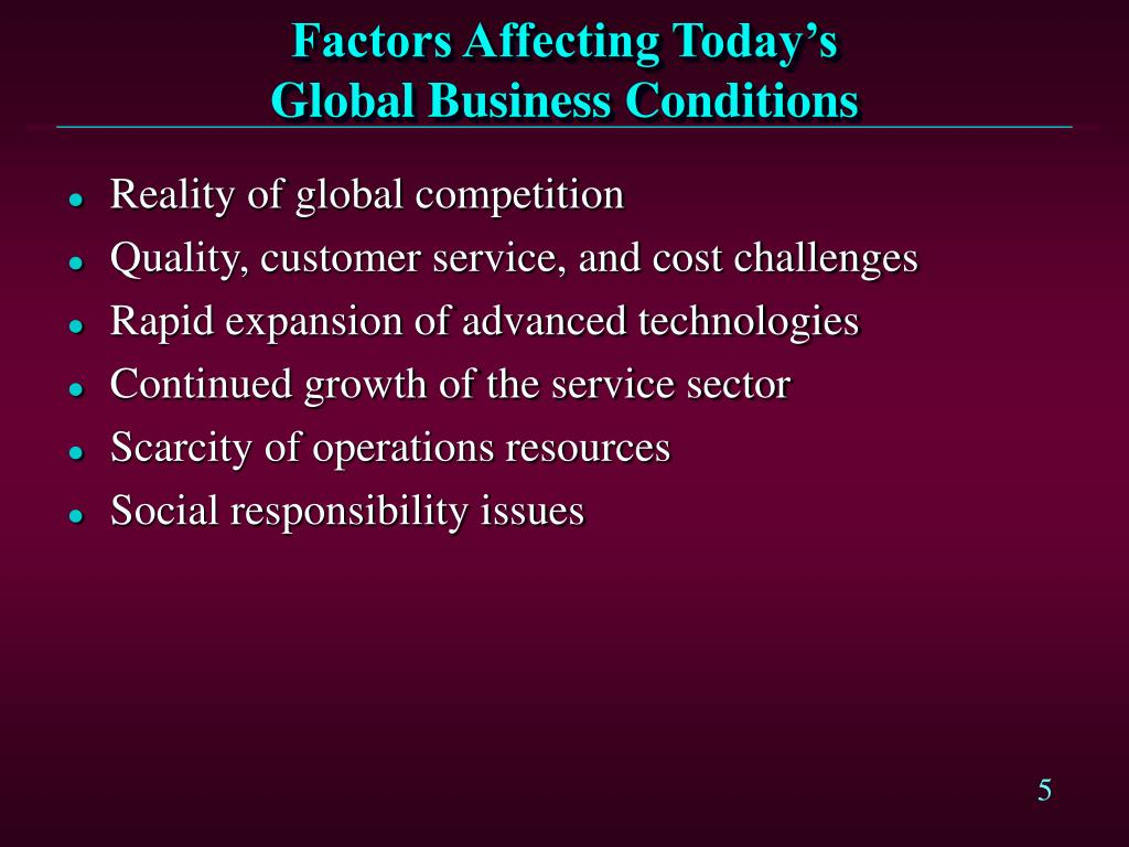 Factors Affecting Today's