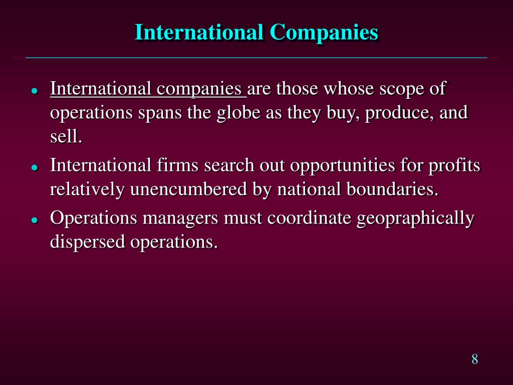 International Companies
