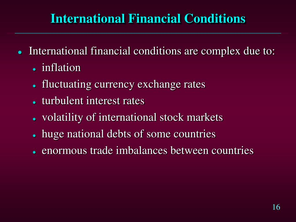 International Financial Conditions