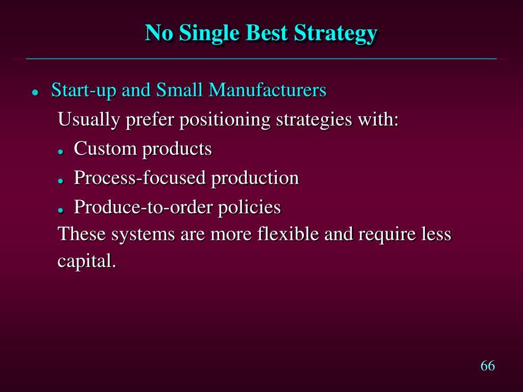 No Single Best Strategy