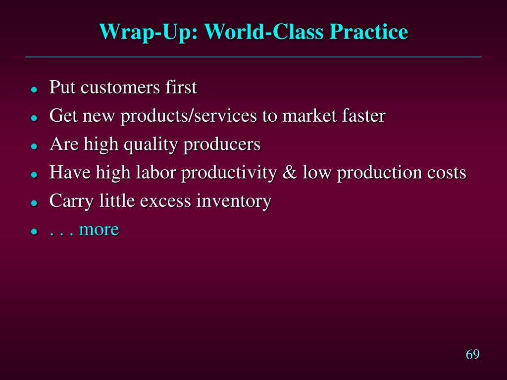 Wrap-Up: World-Class Practice
