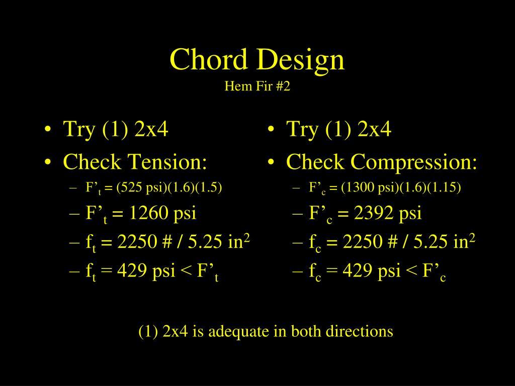 Chord Design