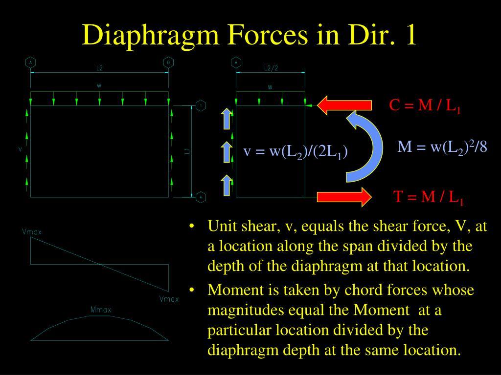 Diaphragm Forces in Dir. 1
