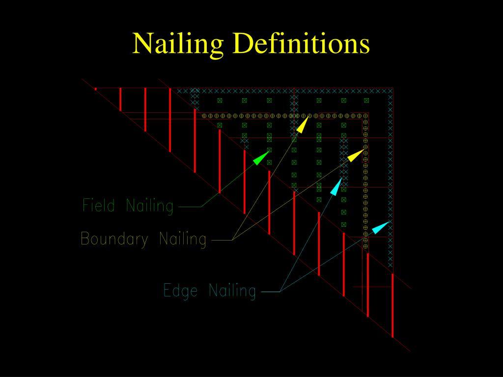 Nailing Definitions