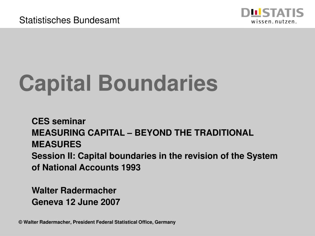 Capital Boundaries