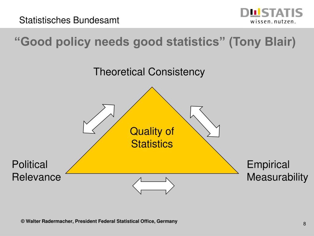 """Good policy needs good statistics"" (Tony Blair)"