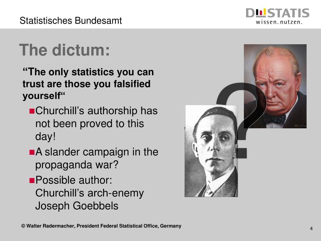 The dictum: