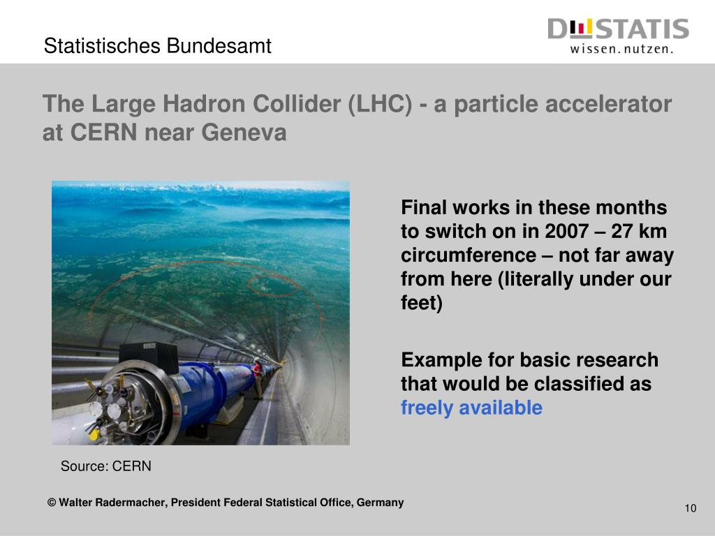 The Large Hadron Collider (LHC) - a particle accelerator at CERN near Geneva