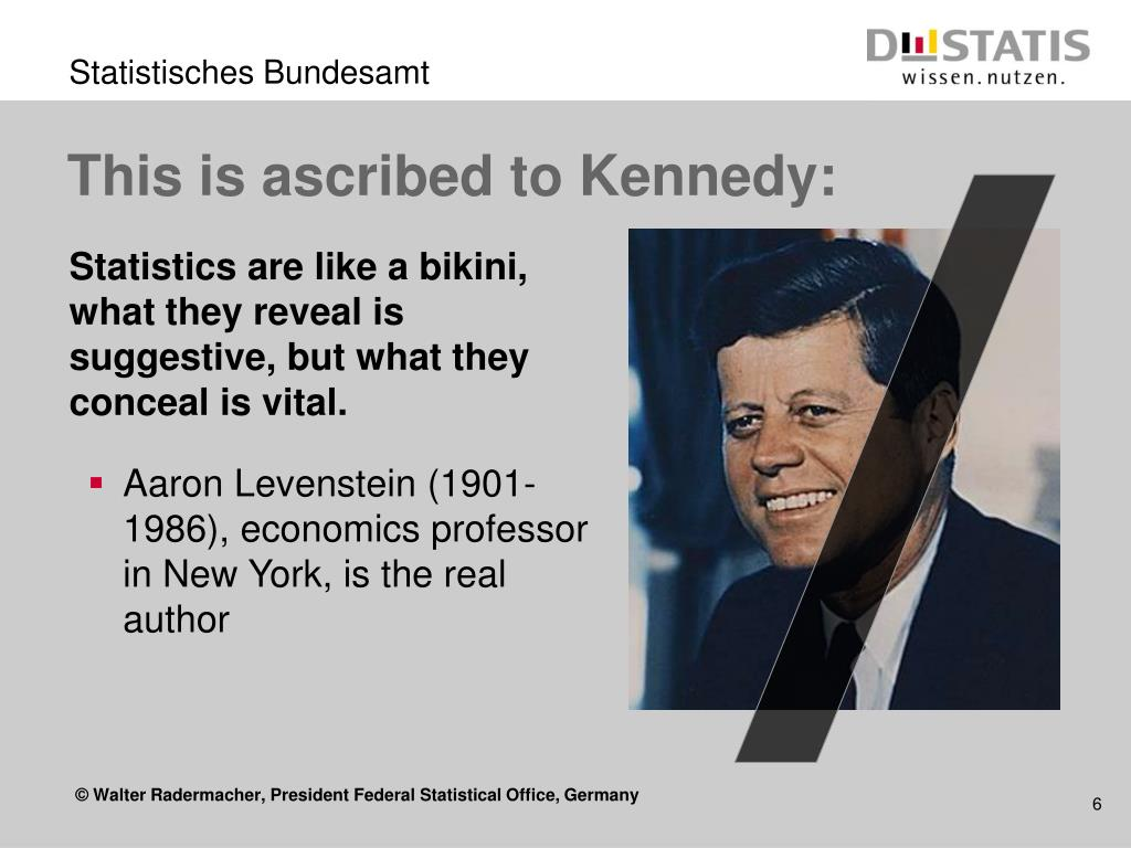 This is ascribed to Kennedy: