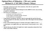 optimal rate of mitigation cba not a guide richard s j tol 2003 climatic change