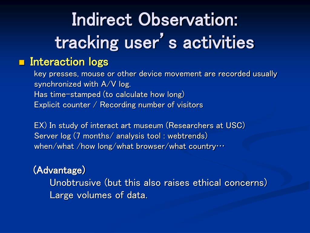 Indirect Observation: