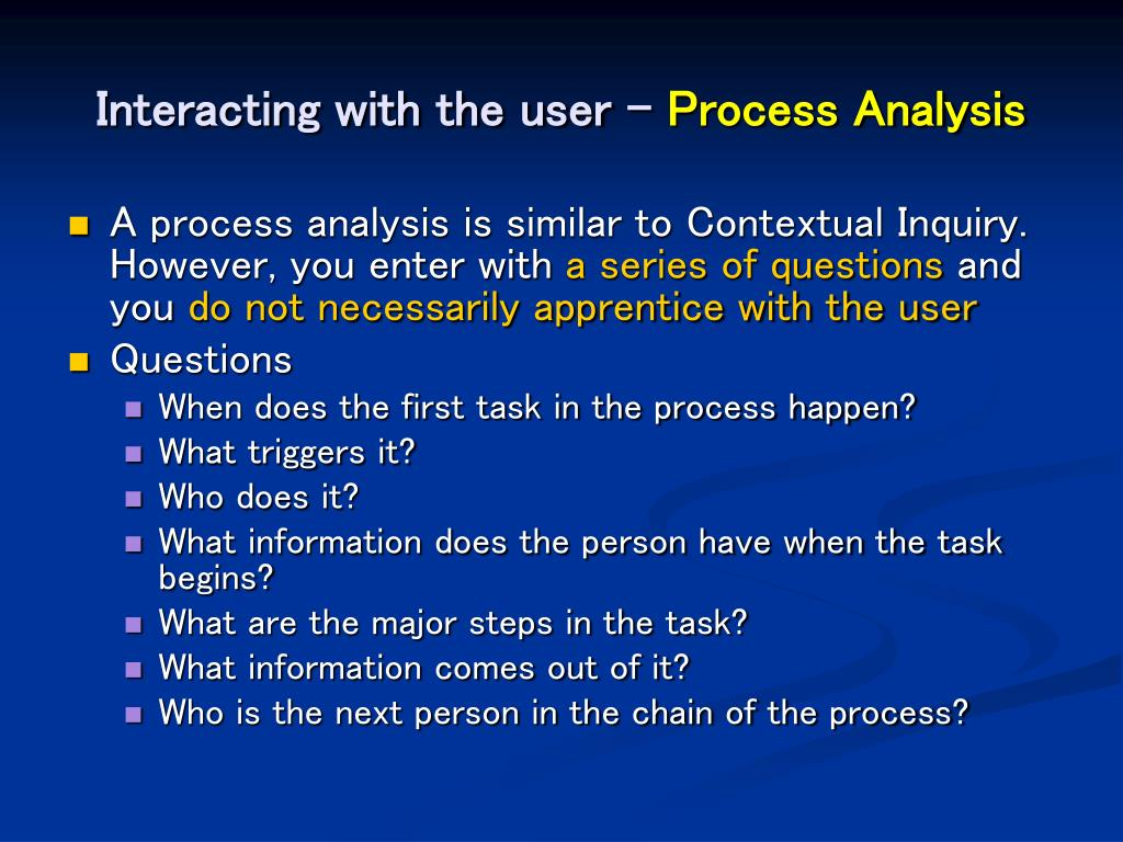 Interacting with the user –
