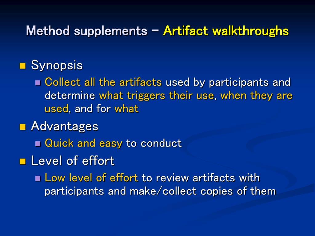 Method supplements –