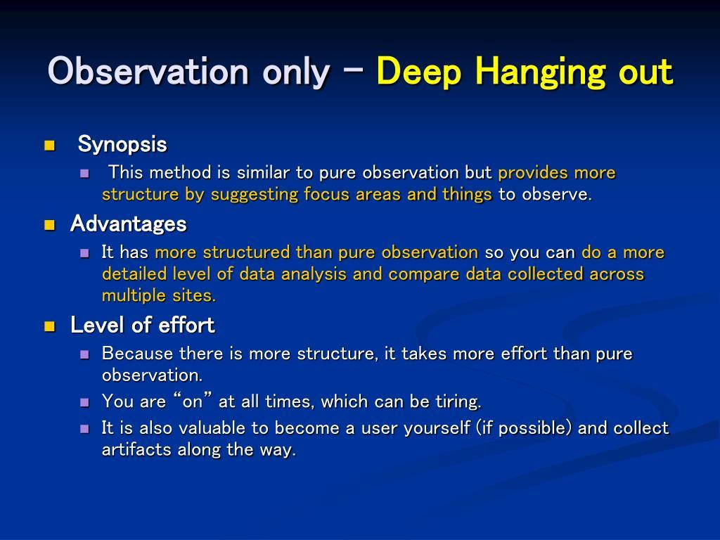 Observation only –