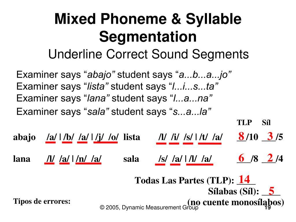 Mixed Phoneme & Syllable Segmentation