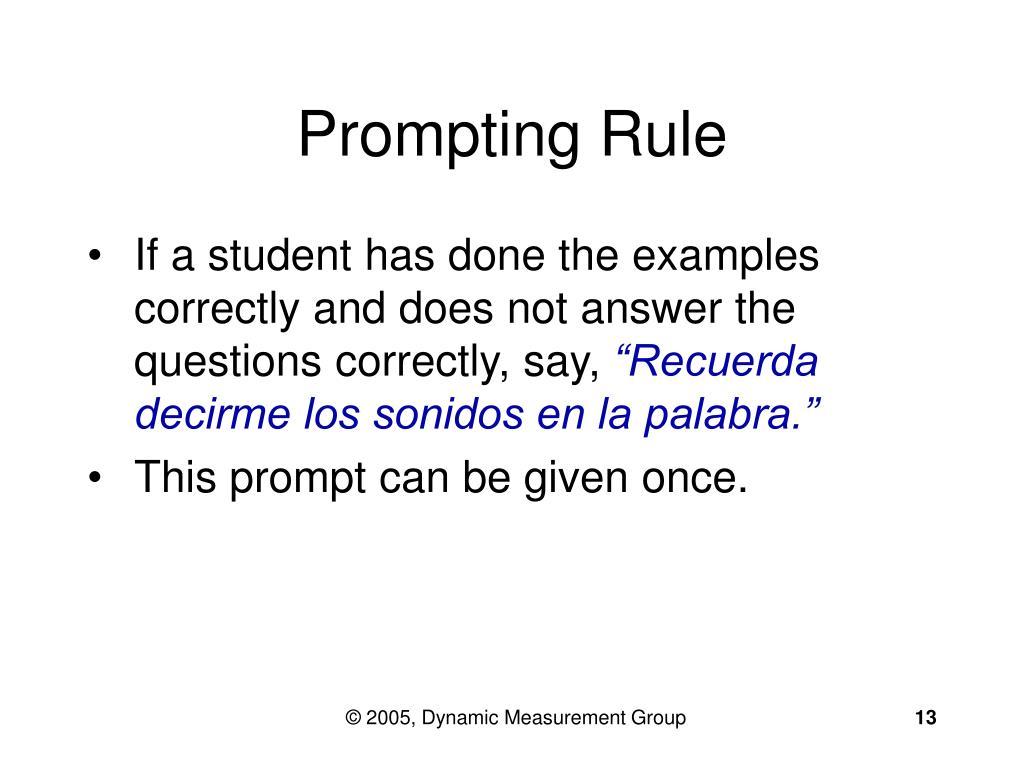 Prompting Rule