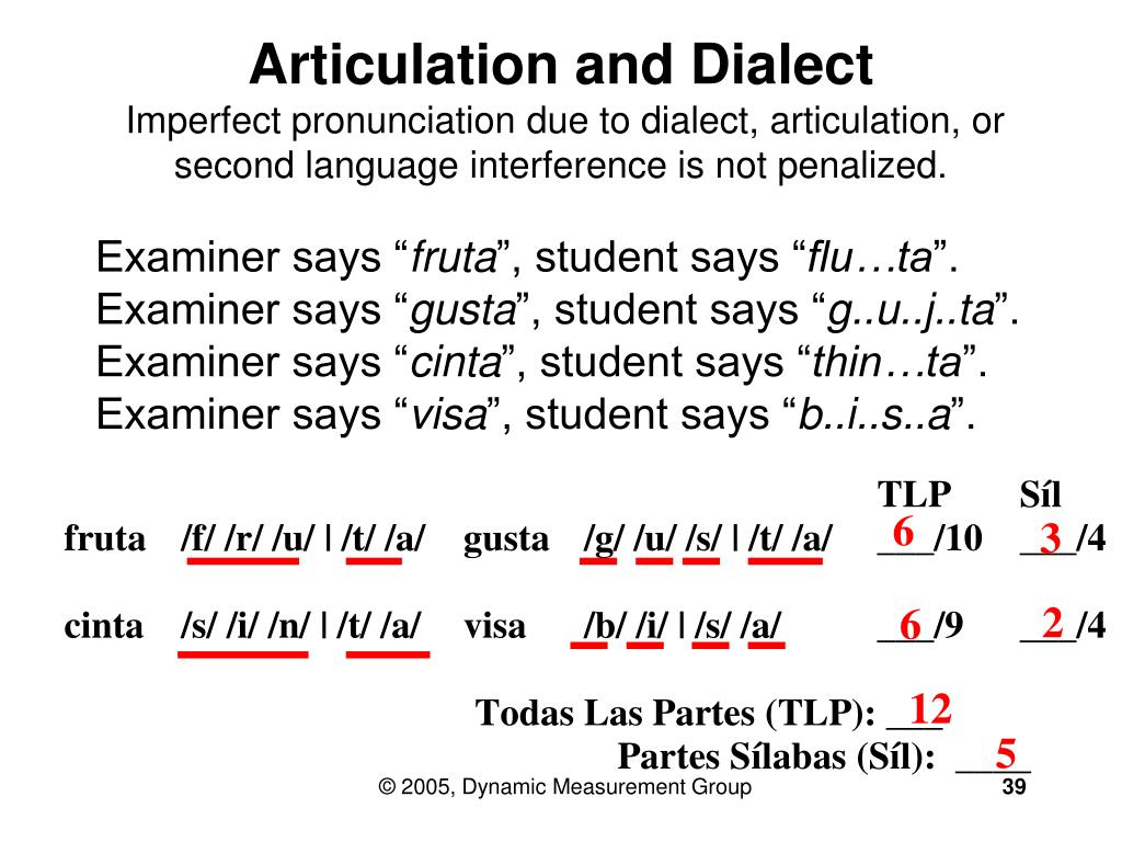 Articulation and Dialect
