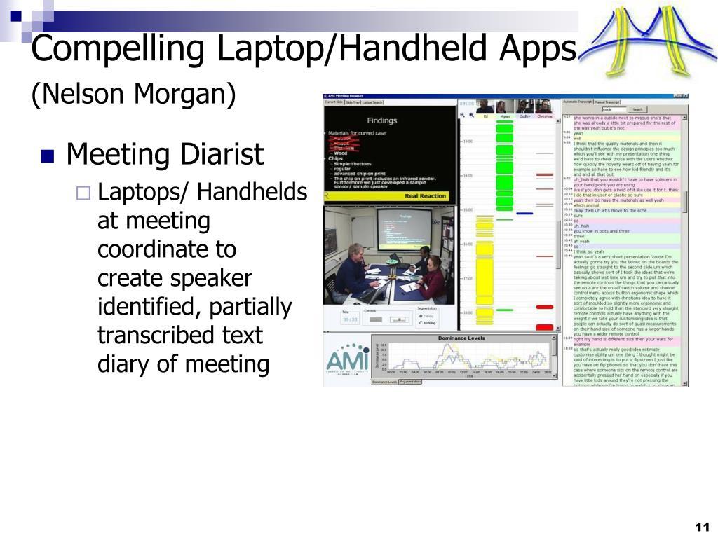 Compelling Laptop/Handheld Apps