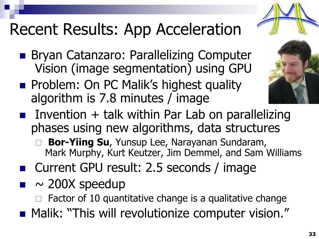 Recent Results: App Acceleration