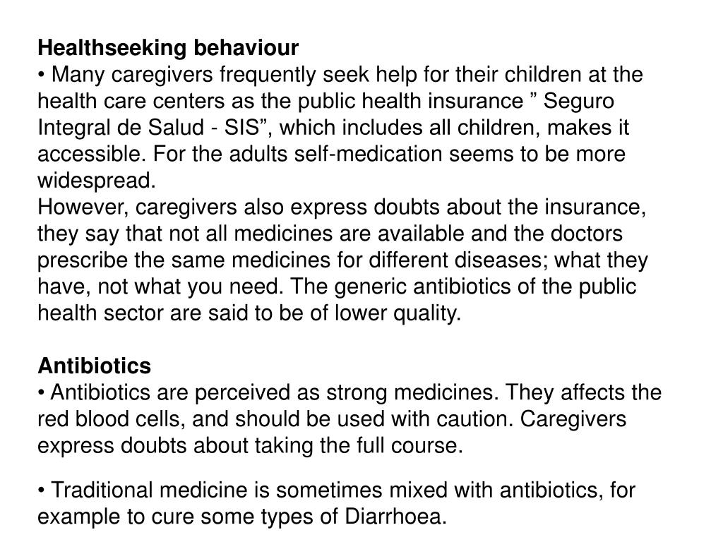 Healthseeking behaviour