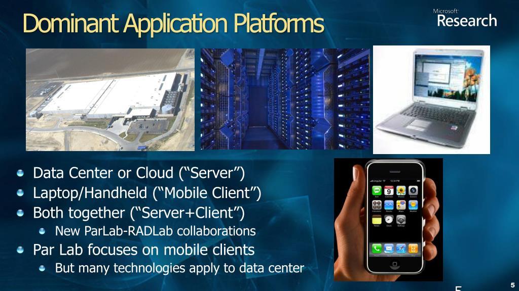 Dominant Application Platforms