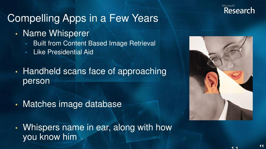 Compelling Apps in a Few Years
