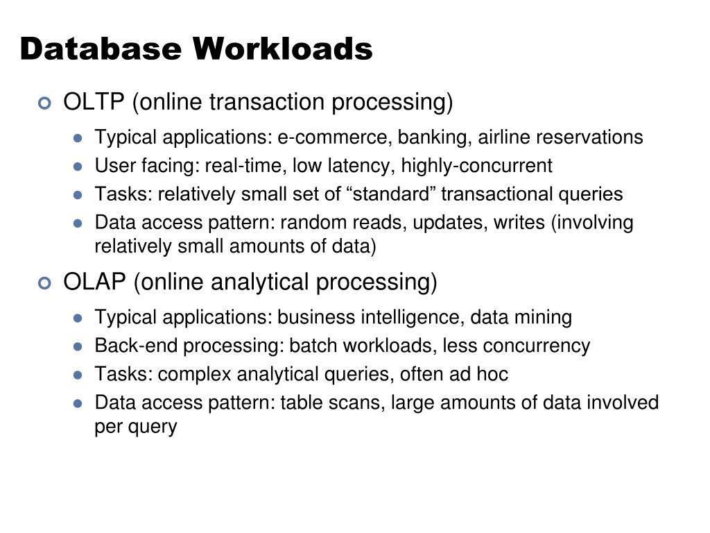 Database Workloads