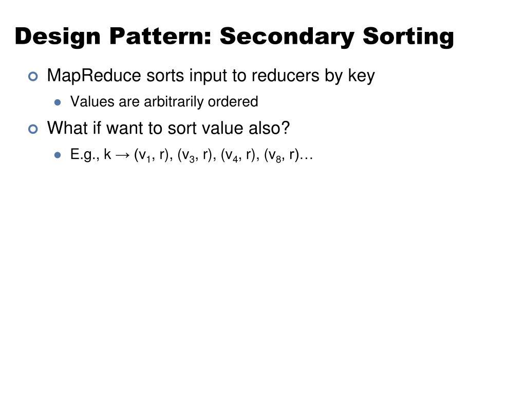 Design Pattern: Secondary Sorting