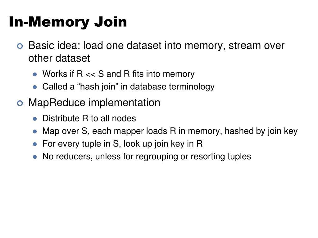 In-Memory Join