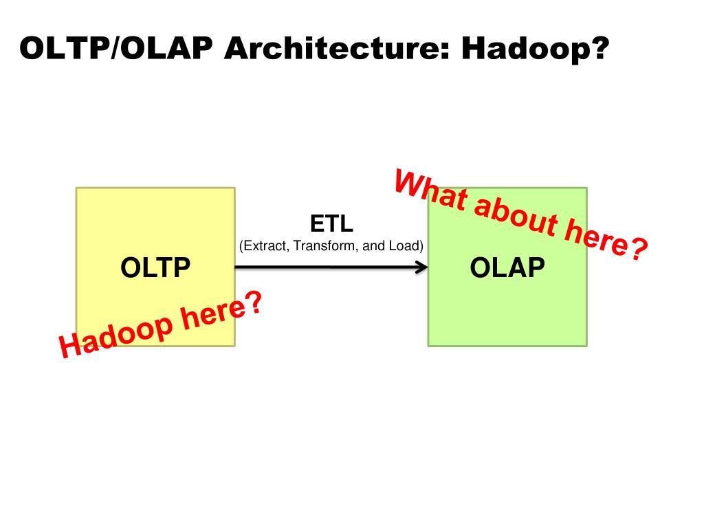 OLTP/OLAP Architecture: Hadoop?