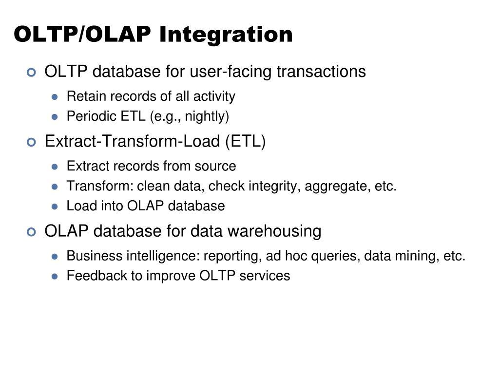 OLTP/OLAP Integration