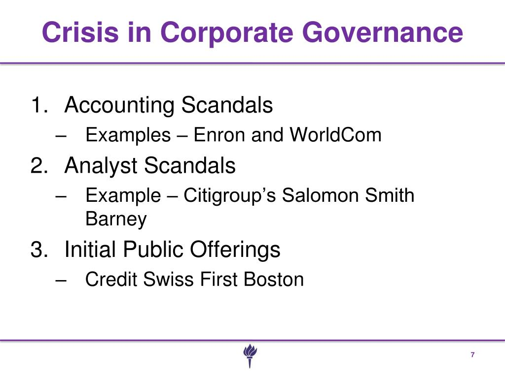 Crisis in Corporate Governance